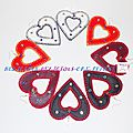 earrings white inner heart leatherette d
