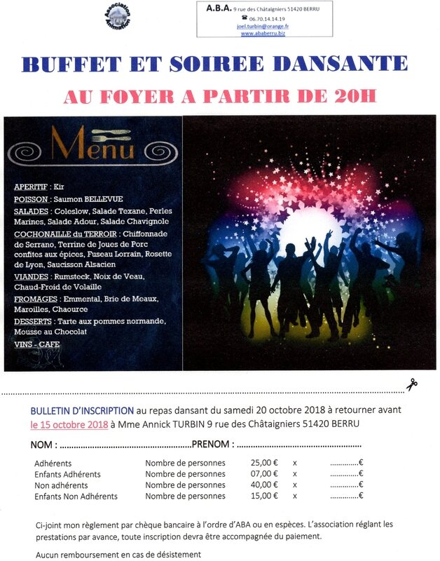 20181020 BUFFET SOIREE DANSANTE