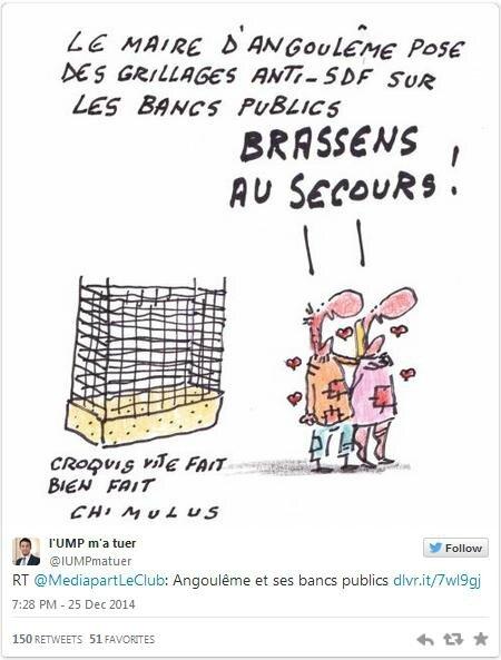 Angoulême Les Grillages Anti Sdf Sont Démontés Mais Le Mal Est