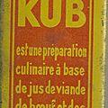 Kub - petite boite de bouillon kub