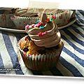 Cupcakes pomme raisin cannelle - meringue suisse (sans gluten et sans lactose)