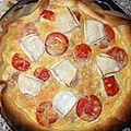 La quiche au thon, chèvre et tomates de Laurence
