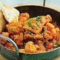 Curry de porc au chou-fleur