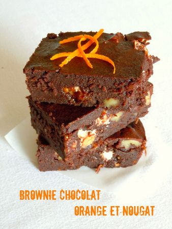 brownie orange cj=hocolat nougat noix pécan 1