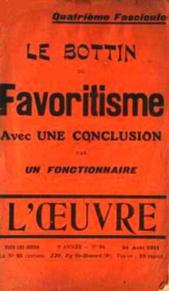 Le bottin du favoritisme