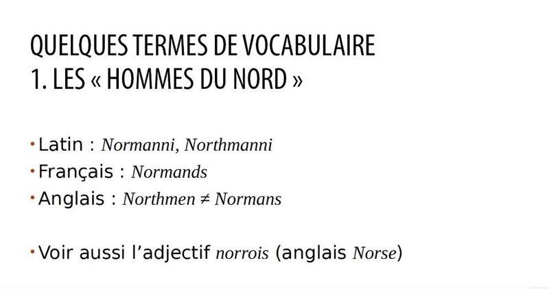 quelques termes de vocabulaires employés pour désigner les vikings