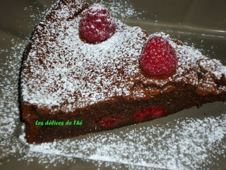 Fondant chocolat noir framboises (21)