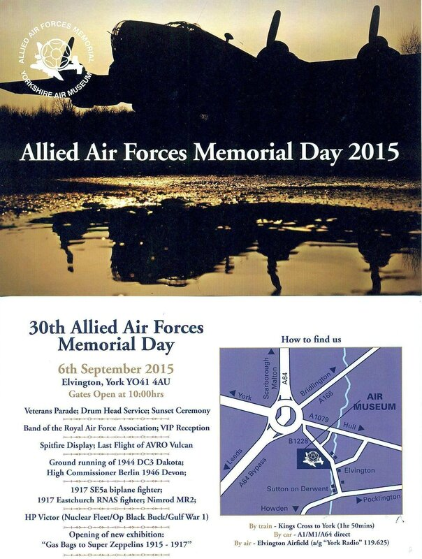 elvington Allied Air Forces Memorial Day - Sept 2015