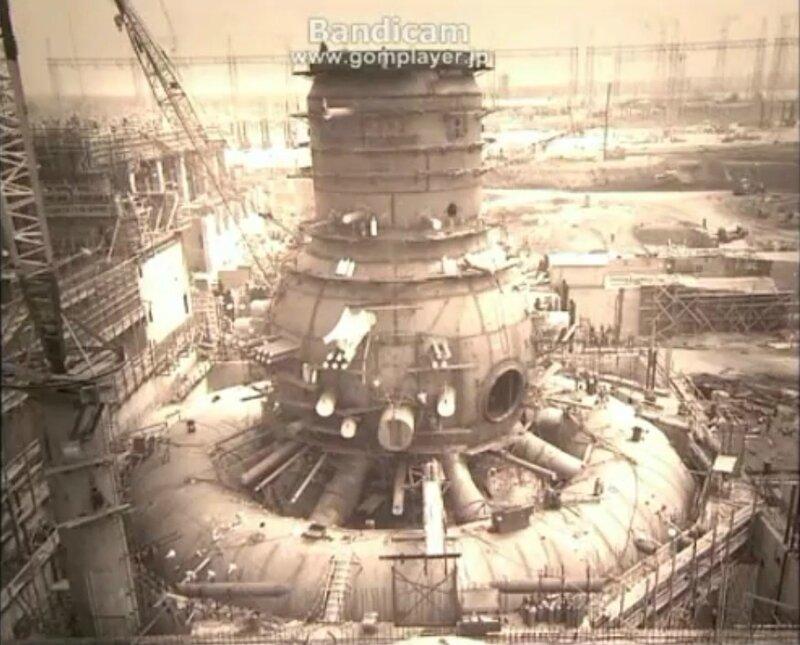 Fukushima-construction-du-réacteur