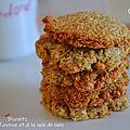 Biscuits aux flocons d'avoine et à la noix de coco