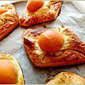 Brioches feuilletées à l'abricot