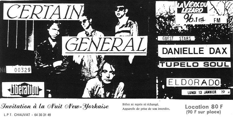 1986 01 Certain General Eldorado Billet