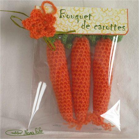 bouquet carottes au crochet