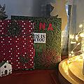 Les cadeaux diy : le pochon de noël et la carte d'anniversaire
