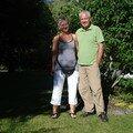 Un couple belge trés souriant en rando dans le vercors