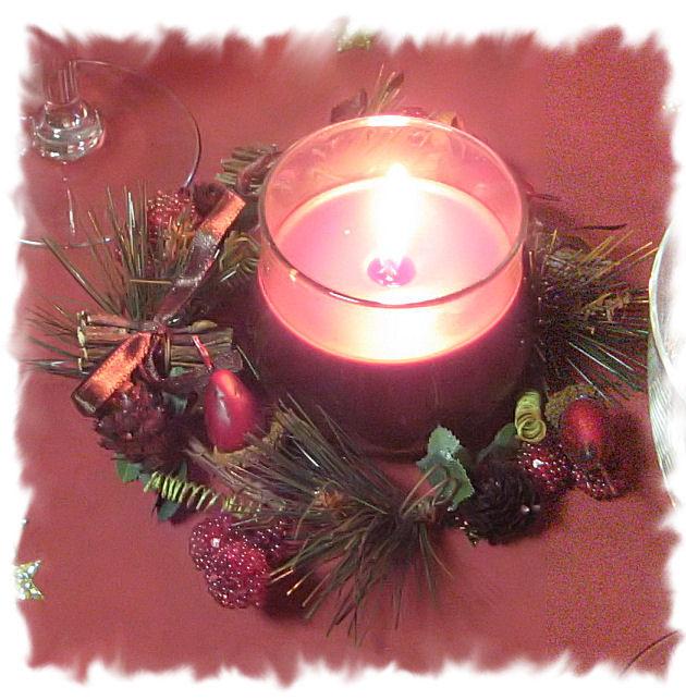 Noël 2007 - bougie sur la table