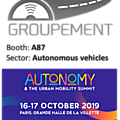 Meet us at autonomy the urban mobility summit - paris october 16-17th