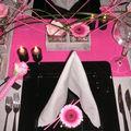 Table rose et noire