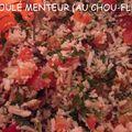"""Taboulé """"menteur"""" au chou-fleur (recette marmiton)"""