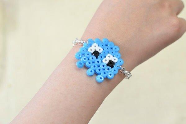 Easy Perler Beads Idea -How to Make a Cute Cartoon Perler Bead Chain Bracelet (7)