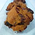 cookies aux magrets fumés , chèvre et pruneaux