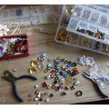 Un petit bout de l'atelier de pralinette bijoux mariage !