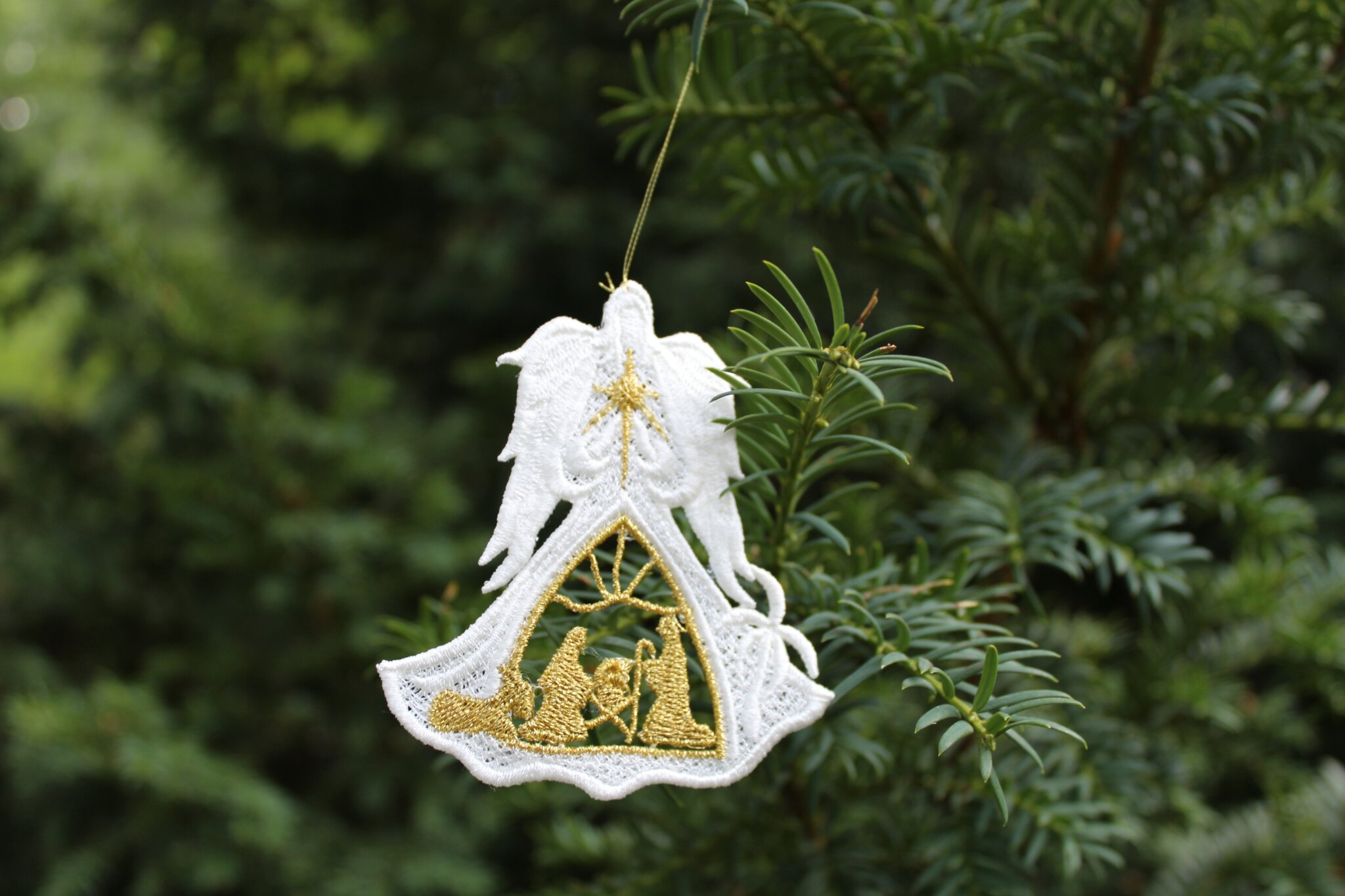 ANGEL4 Ange blanc decoration sapin dentelle amd a coudre (4)