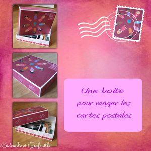 montage boite cartes postales