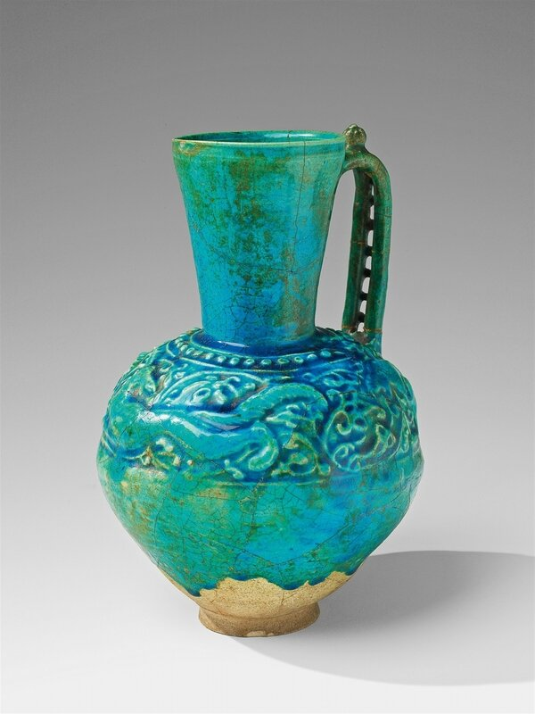 An Iranian fritware jug, Late 12th - early 13th century