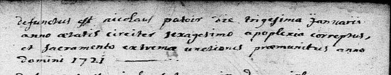 1721, Raismes, Deces, PATOIR, Nicolas