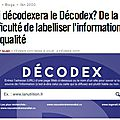Qui décodexera decodex ?