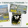 1 ticket pour 3 festivals ....