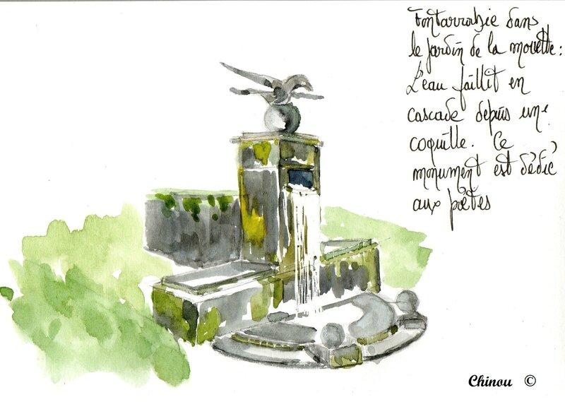Fontarrabie Fontaine de la mouette