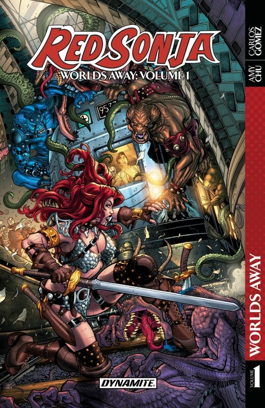 dynamite red sonja worlds away vol 01 TP