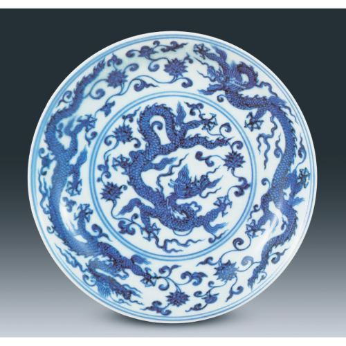 Blue and White 'Dragon' Dish, Mark and Period Of Xuande, National Palace Museum, Taipei