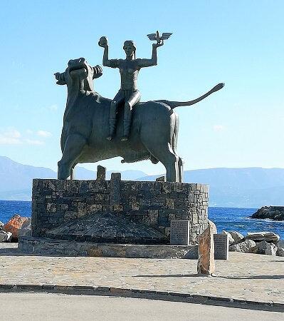 Crete Zeus taureau et Europe