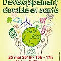 Journée développement durable et santé - 25/05/2016 à béziers