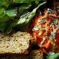 Terrine presque végétale aux graines de tournesol et petits légumes, sans blé, sans lait