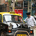 Delhi, yellow (and black) cab