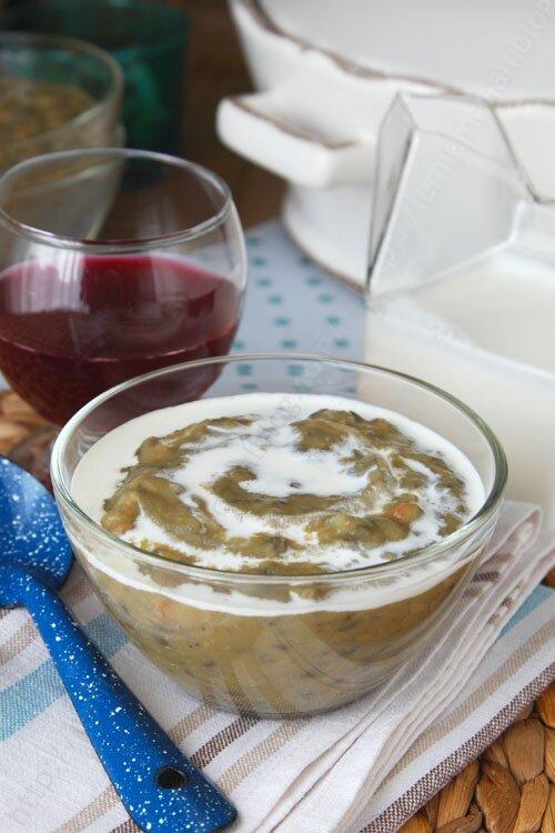 recette soupe veloute de lentilles saucisse 0003 LE MIAM MIAM BLOG
