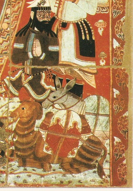 TOURFAAN - XINXIANG - Bouddha (détail)) -peinture pariétale - 9e/10e siècle