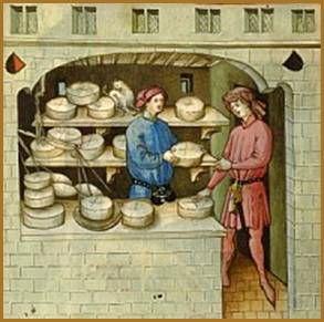 Marchand de fromages au 15ème siècle