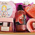 Coffret de douche girly cherry
