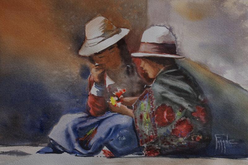 Scéne de vie- Pérou