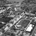 Mézidon - vue aerienne (ancienne école, cité Manchon et la Halte