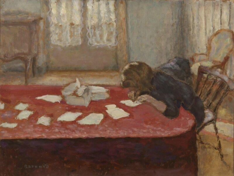 Jeune femme écrivant_Pierre Bonnard_1908