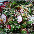 Taboulé de quinoa radis et roquette