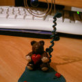 Teddy Heart (porte-photo fimo)