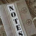 Protège cahier en lin