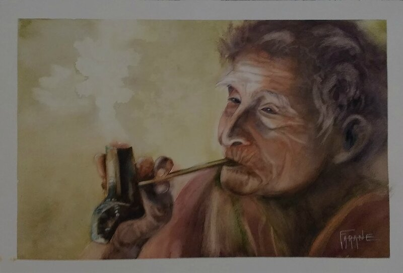 Femme Vietnamiene à la pipe